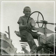 dad on a tractor