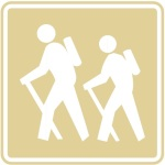 hiking trail icon